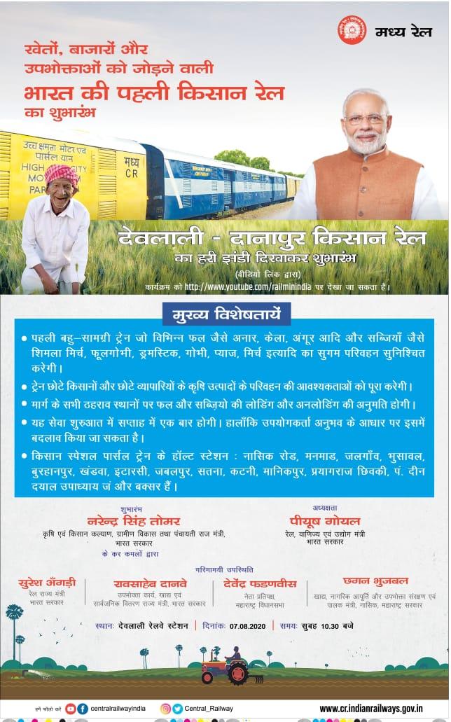 Kisan Rail Yojana , किसान रेल योजना