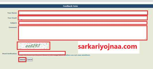 pfms feedback form
