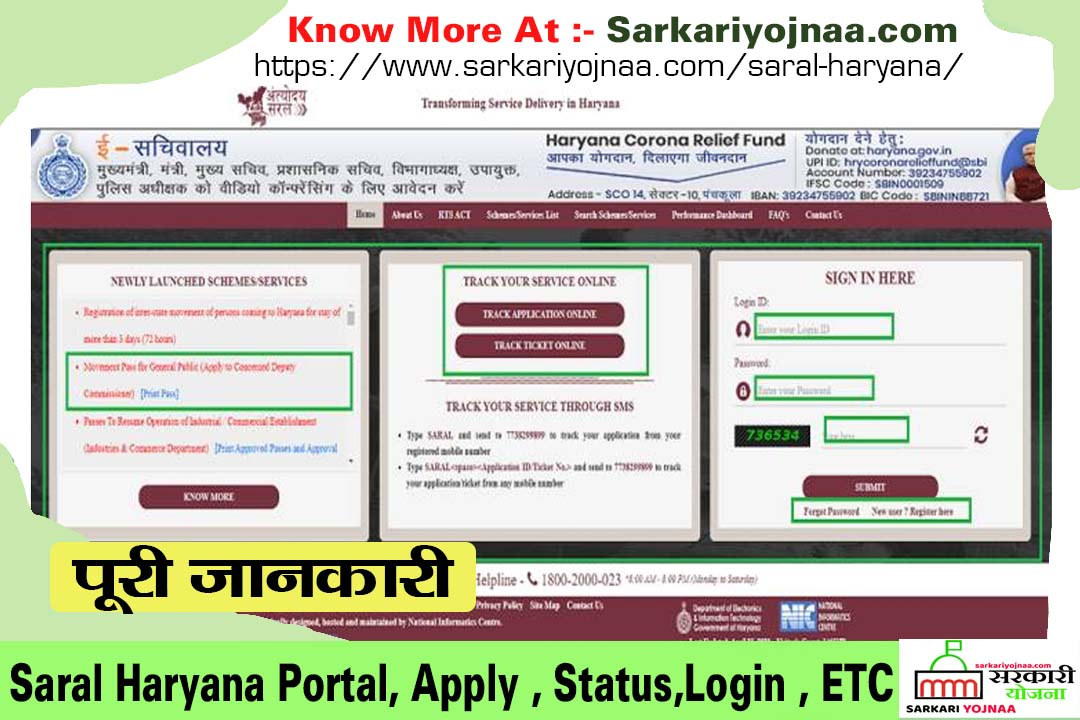 Saral Portal Haryana